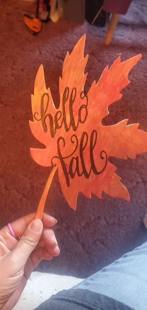 Hello fall wooden sign for Sale in Waynesville, MO