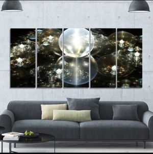 Modern water drops wall canvas for Sale in Odenton, MD