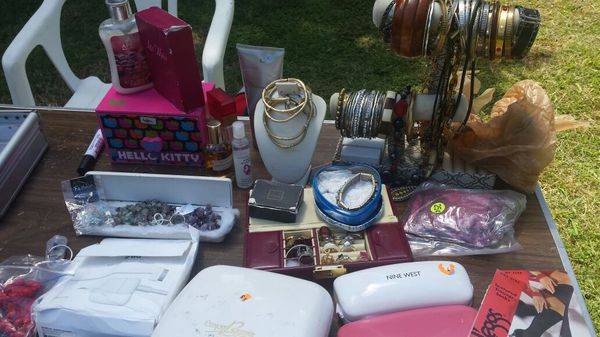 Household goods for sale today..Bikes, baby items, bed rails bar stools and more!