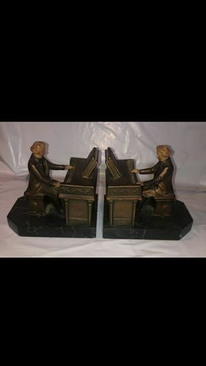 1932 JB HIRSCH BEETHOVEN ANTIQUE BOOKENDS for Sale in Charlotte, NC