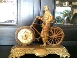 Antique British United Bicycle Brass Desk Clock for Sale in Austin, TX