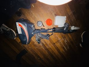 HANGKAI 3.5 Hp Superior Engine Water Cooling System Outboard Motor Two-strok Inflatable Fishing Boat for Sale in San Antonio, TX