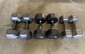Workout Hex Dumbbells Weights 25-40lbs (200lbs Total) for Sale in Happy Valley, OR