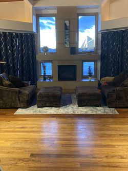 Two Restoration Hardware sleeper chairs - theater seating - bed for Sale in Parker,  CO