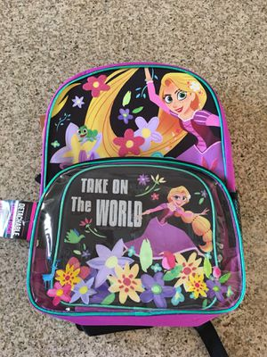 "DisneyTangled Rapunzel 16"" girl's backpack with lunchbox for Sale in La Habra, CA"