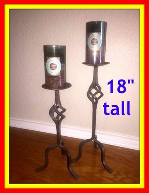"""18"""" candle holders + NEW candles for Sale in Austin, TX"""