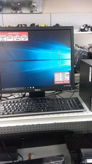 Dell optiplex 9020 desktop with monitor for Sale in Pompano Beach, FL