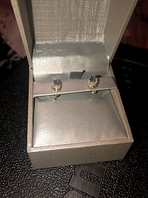 Zales Diamond and Tanzanite silver earrings. for Sale in Durham, NC