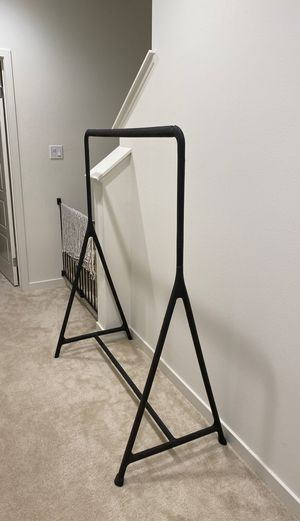 IKEA Turbo Black Clothing Rack with Wheels for Sale in Irvine, CA