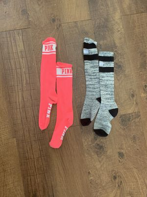 2 like new pairs pink by Victoria's Secret socks for Sale in Plano, TX