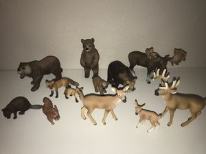 Forest animal collectibles toys/figures for Sale in Puyallup, WA