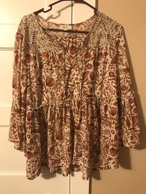 ***STYLE & COMPANY WOMEN'S SHEER FLORAL SHIRT SIZE XL*** for Sale in Portland, OR
