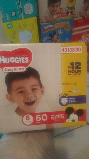 Huggies size6 count60 $15 for Sale in Riviera Beach, FL