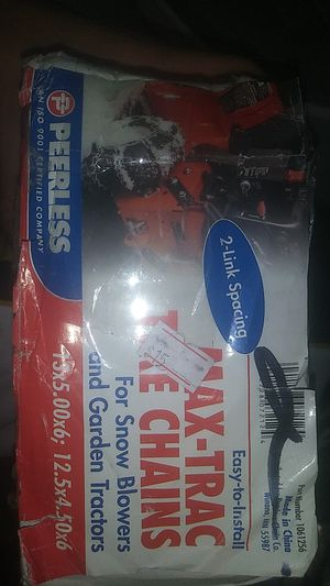 Maxtrax tire chains for snow blowers and garden tractors 2 link spacing for Sale in Riverside, CA