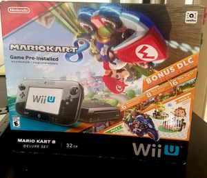 Nintendo Wii U Mario Kart Deluxe Set - 32 GB - Black for Sale in Boca Raton, FL