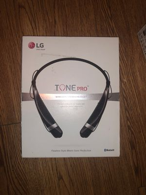 LG Electronics Tone Pro HBS-760 Bluetooth Wireless Stereo Headset - Retail Packaging - Black for Sale in Houston, TX