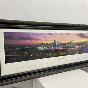 Miami panoramic Framed photo for Sale in Miami, FL