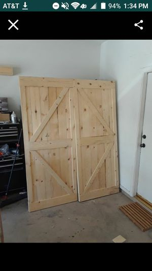 2 38x84 barn doors hardware not included $160ea or $300 for both for Sale in Henderson, NV