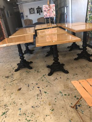 Tables Restaurant Bistro Wrought Iron for Sale in Fort Lauderdale, FL
