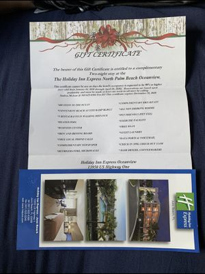 Gift certificate for 2 night stay holiday inn express in north palm beach for Sale in Orlando, FL