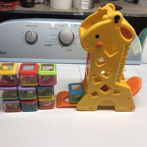 Baby sensory toy giraffe w/sound for Sale in Malden, MA