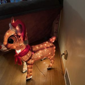 Rudolph The Red Nose Reindeer Lighted Decoration for Sale in Aliquippa, PA