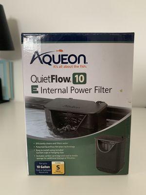 Aqueon quiet flow filter 10 G for Sale in Bloomington, CA