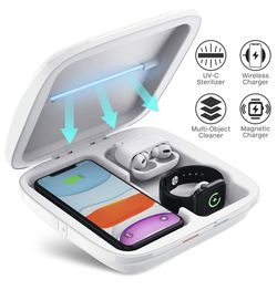 NEW - 4-in-1 UV Sanitizer and Wireless Phone Charging Station Sterilization Box for Sale in Fort Lauderdale,  FL