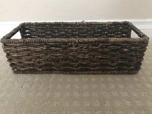 Rattan storage bin with handles for Sale in San Diego, CA