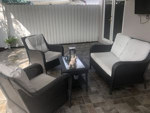 Outdoor grey furniture set for Sale in Miami, FL