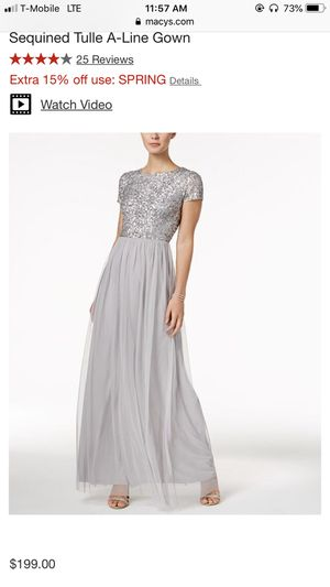 Silver Gown/Dress brand new for Sale in Portland, OR