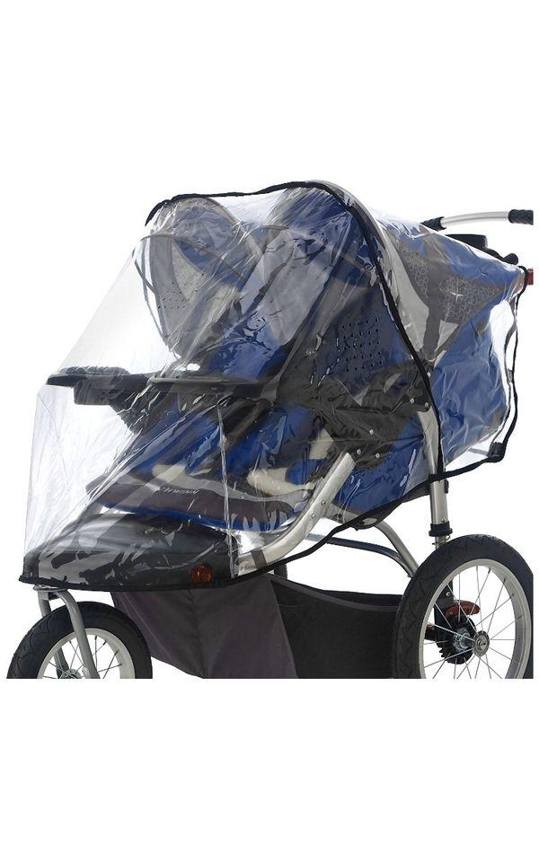 Double jogger stroller rain cover