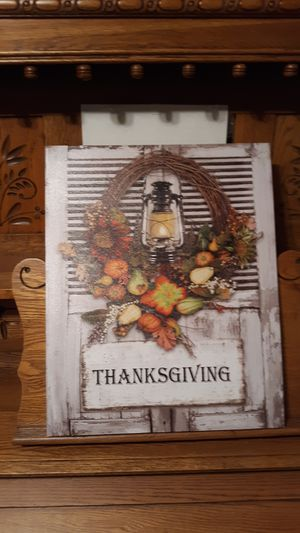 LIGHTED THANKSGIVING PLAQUE for Sale in Lynchburg, VA
