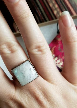 Hand Designed Electroformed Moonstone Ring size 8.5 for Sale in Boulder, CO