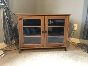 Wood Ikea TV stand for Sale in North Springfield, VA
