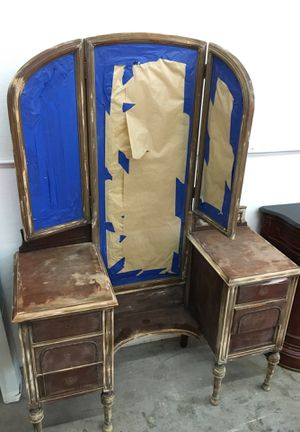 Antique Tall Mirrored Vanity Project Shabby Chic Ready WA for Sale in Joint Base Lewis-McChord, WA