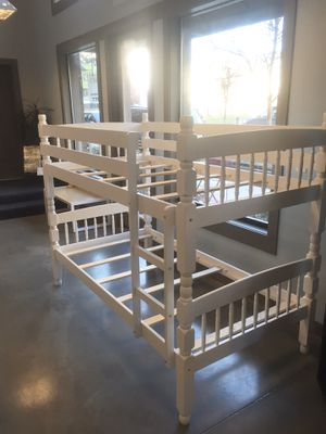 New Wood Bunk Bed Set with Night Stand and Chest. for Sale in Atlanta, GA