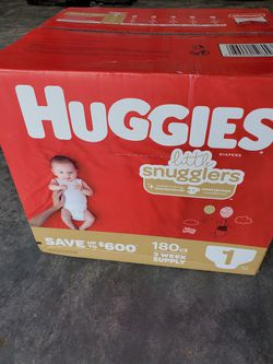 Diapers / Pampers - Number 1 Size - Brand New Sealed Unopened for Sale in Monroe, NC
