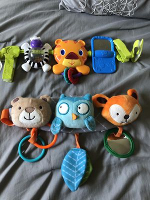 Baby car seat toys for Sale in Riverside, CA