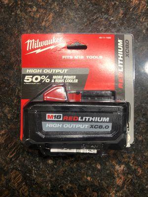 Milwaukee m18 8.0 batteries like dewalt Bosch rigid ryobi makita pack out for drills sawzall miter blowers for Sale in Riverside, IL
