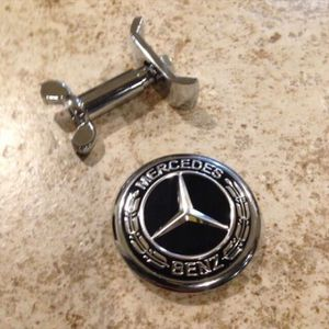 Metal Mercedes Benz Hood Emblem Black Star Delete for Sale in Decatur, AL