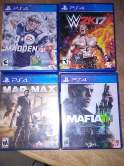 Games For Ps4 $10 A Piece for Sale in Stanardsville,  VA