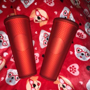 $35 Matte Red Studded Starbucks Cups for Sale in Fontana, CA