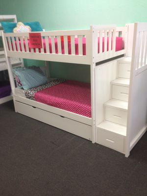 Stairway twin size bunk bed. Color choice for Sale in Glendale, AZ