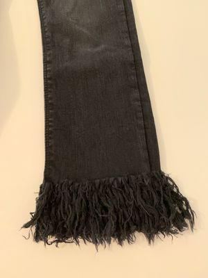 Fringe bottom black cropped jeans for Sale in Maitland, FL