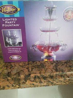 Lighted party fountain for Sale in Hialeah Gardens, FL