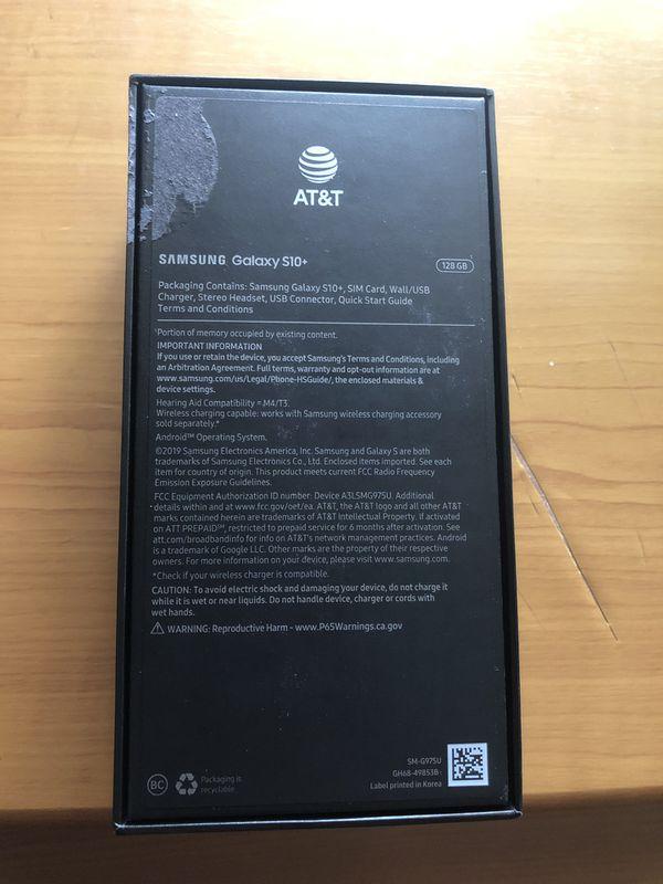 Samsung Galaxy S10+ Prism Black 128 GB