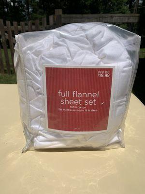 Full flannel sheets for Sale in Barboursville, VA