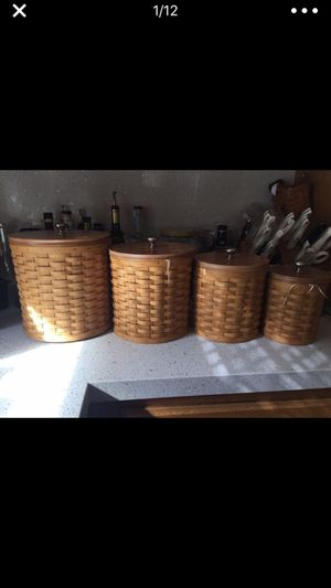 Longaberger Canister Set for Sale in Mukilteo, WA