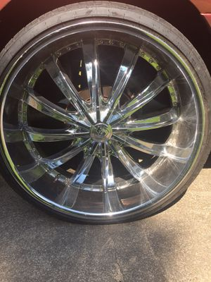 """26"""" rims and tires for Sale in Stuttgart, AR"""